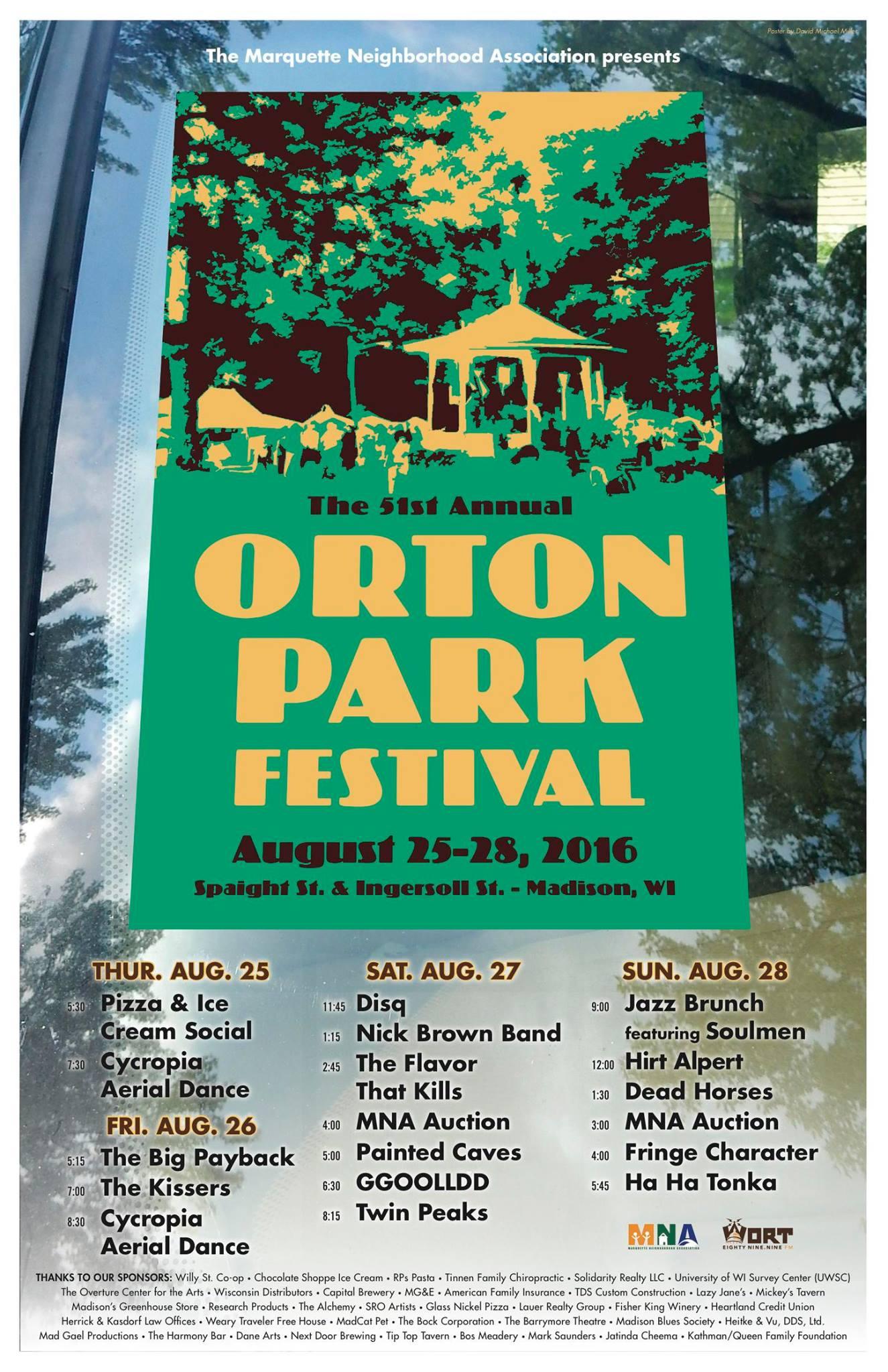 Magic Under Orton Park Oak >> Orton Park Festival August 23 26 2018 Marquette Neighborhood
